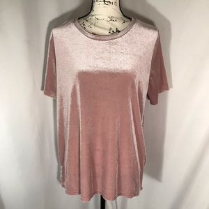 Old Navy Crush Velvet Stretchy Short Sleeve Tee L